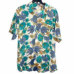 Gitman Bros. Shirt Mens Linen Cotton Floral